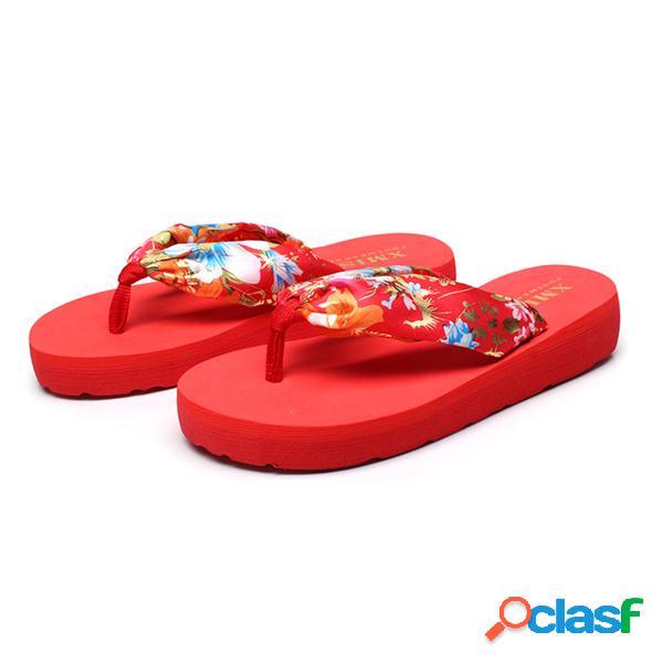 Tamaño grande colorful chanclas superiores con clip de cinta verano al aire libre vacaciones playa zapatillas