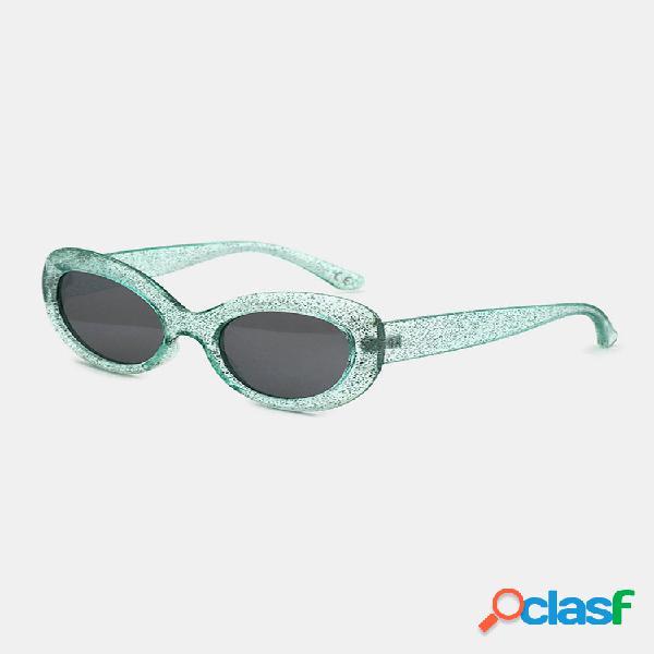 Mujer moda de montura completa vendimia gato forma de ojo uv gafas de sol de protección