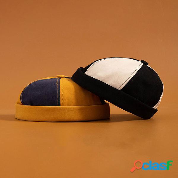 Hombre & mujer moda algodón multicolor sombrero sin borde sombreros cráneo gorras