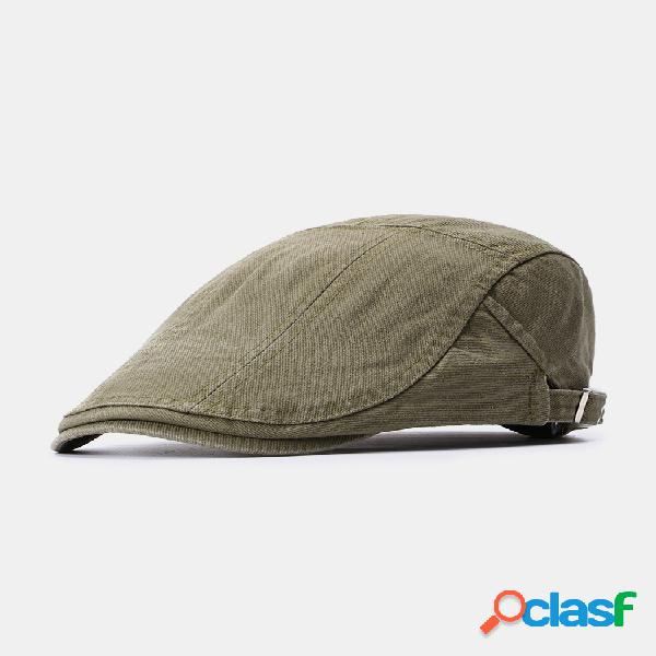 Hombre mujer verano algodón retro boina cap duck sombrero sombrilla casual exterior gorra delantera en pico
