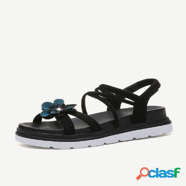 Roman sandalias mujer de fondo plano nuevo estudiante sandalias bohemian wild de fondo grueso sandalias sandalias