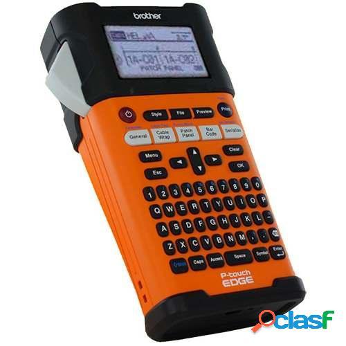 Brother rotulador p-touch edge pt-e300, transferencia térmica, 180 x 180 dpi, negro/naranja