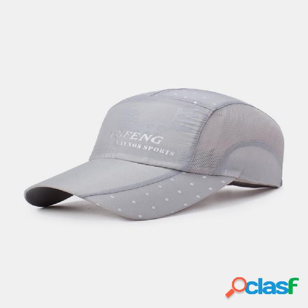 Hombre mujer gorra de béisbol de malla transpirable de verano de secado rápido ligero sombrero