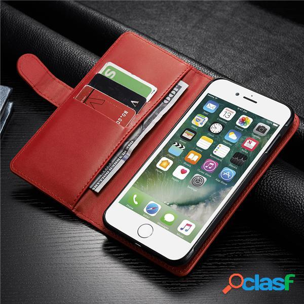 Para mujeres y hombres multifuncional iphone7/7plus/6/6s/6plus/6splus de pu cuero cubierta de móvil billetero cartera de tarjeta