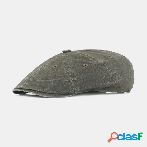 Hombre mujer verano algodón lavado retro boina gorra pato sombrero sombrilla gorra delantera puntiaguda informal