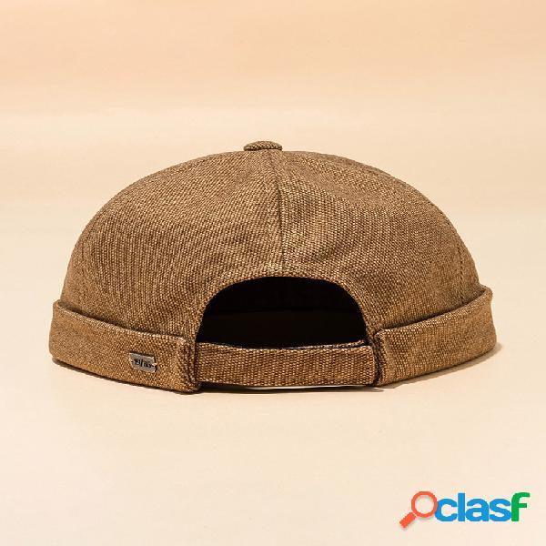 Hombre mujer sección de color sólido sombrero hip hop sombrero gorra marinera de algodón sombrero cráneo gorras