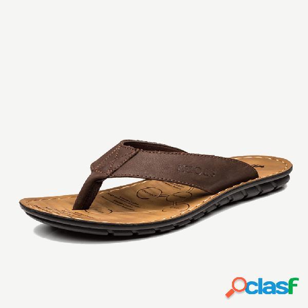 Hombre clip dedo del pie soft sloe water playa sandalias chanclas informales