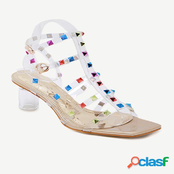Mujer tacón alto sandalias
