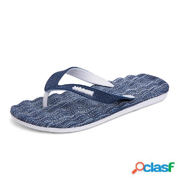 Hombre verano comfy clip dedo del pie playa casual interior zapatillas
