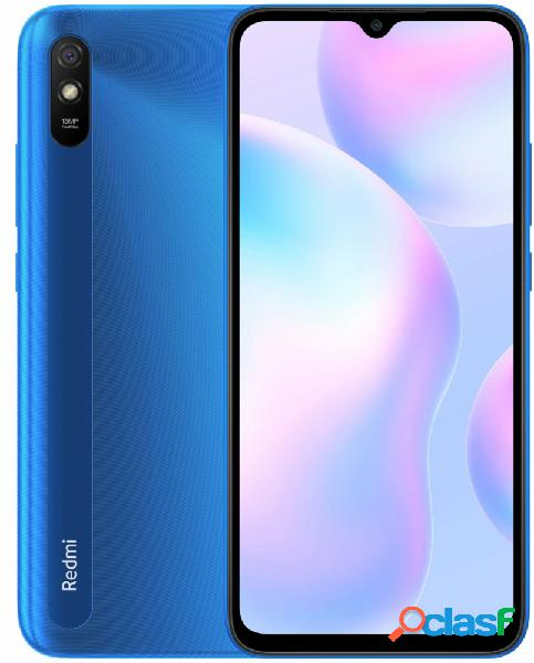 "Smartphone xiaomi redmi 9a 6.53"" dual sim, 1600 x 720 pixeles, 32gb, 2gb ram, 4g, android 10, azul"