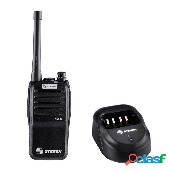 Steren radio análogo portátil de 2 vías rad-530, 16 canales, negro