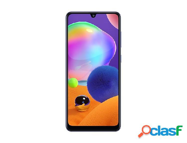 "Smartphone samsung galaxy a31 6.4"", 1080 x 2400 pixeles, 128gb, 4gb ram, 4g, android 10, azul"