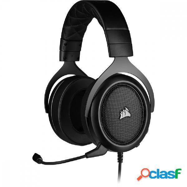 Corsair audífonos gamer hs50 pro stereo, alámbrico, 1.8 metros, 3.5mm, negro