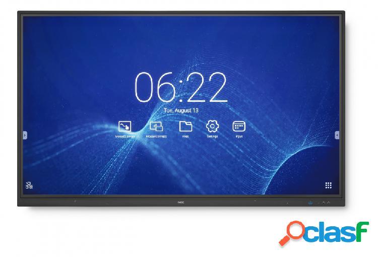 """Nec cb751q pantalla comercial led 75"""", 4k ultra hd, widescreen, negro"""