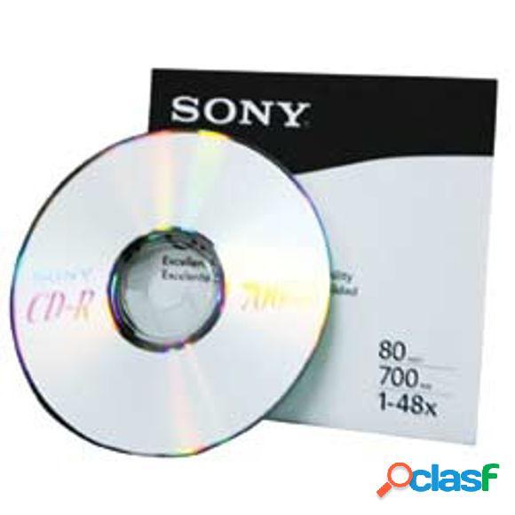 Sony disco virgen para cd, cd-r, 48x, 700mb - 1 pieza