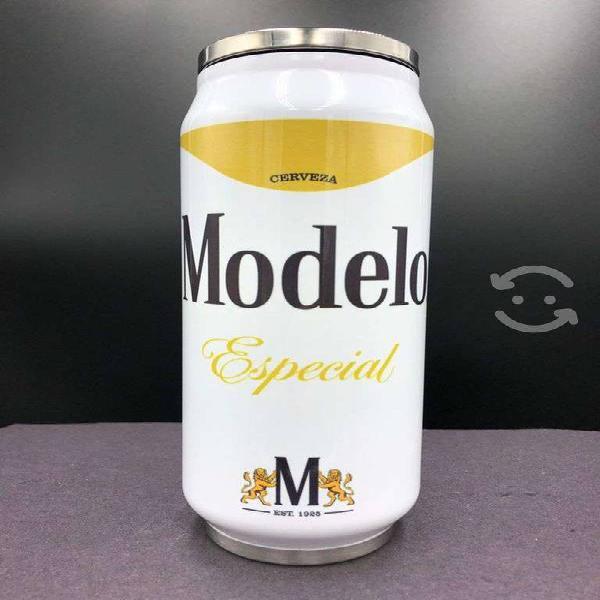 Termo lata 500 ml, modelo especial blanco