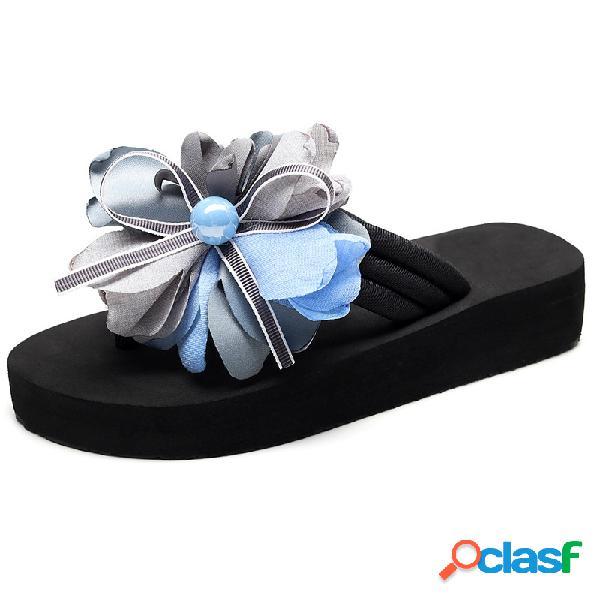 Mujer flores decoración soft bottom casual plano zapatillas