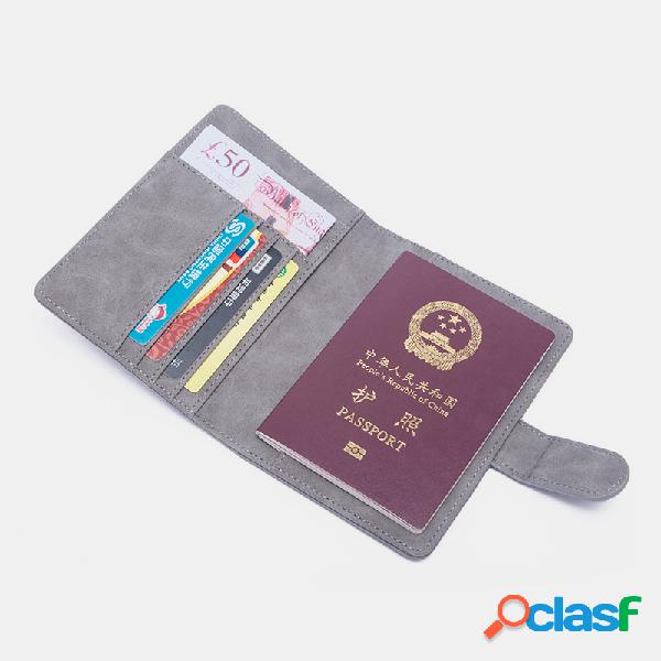 Mujer rifd cuero de pu multifuncional 4 ranuras para tarjetas clip para dinero tarjeta sim monedero monedero