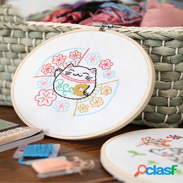 Dibujos animados diy cintas bordadas para principiantes kits de costura punto de cruz artesanía suministros de costura decoración de la pared del hogar