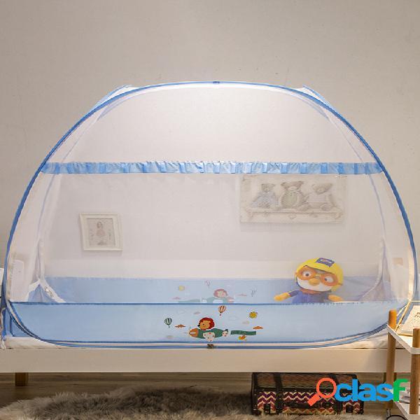 Cuna mosquitera yurt niño recién nacido bebé mosquitera pop-up malla carpa cubierta instalación gratuita con parte inferior plegable
