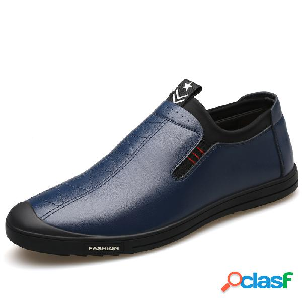 Antideslizante antideslizante para hombres soft zapatos antideslizantes de cuero con suela antideslizante