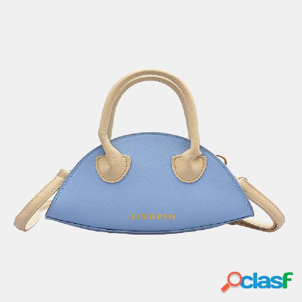 Mujer exterior bolsa bandolera sólida bolsa hombro bolsa bolso satchel bolsa