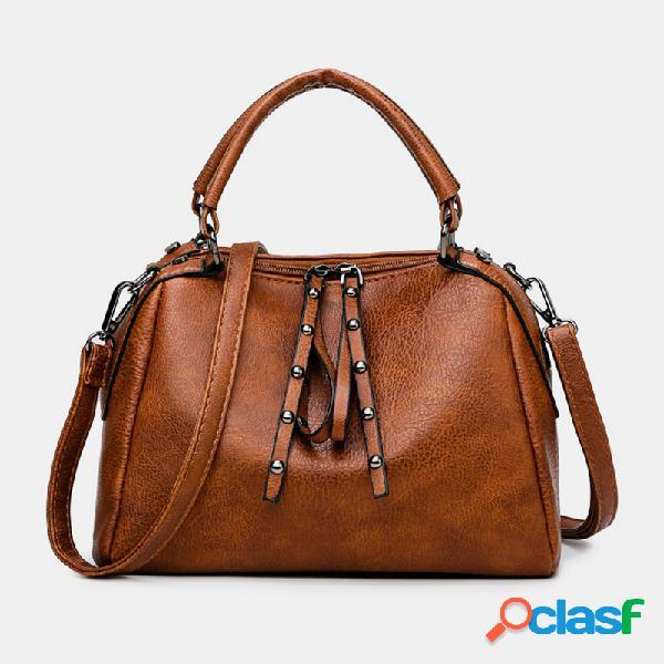 Mujer crossbody informal sólido bolsa
