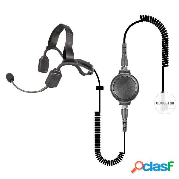 Pryme auricular con micrófono, negro, para motorola