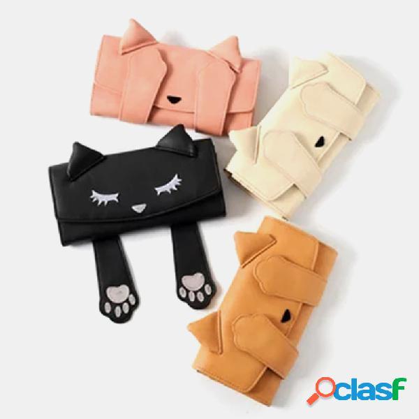 Mujer crossbody bolsa gato patrón bolso cartera