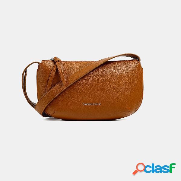 Mujer bolso cruzado de pu sólido bolsa axila bolsa