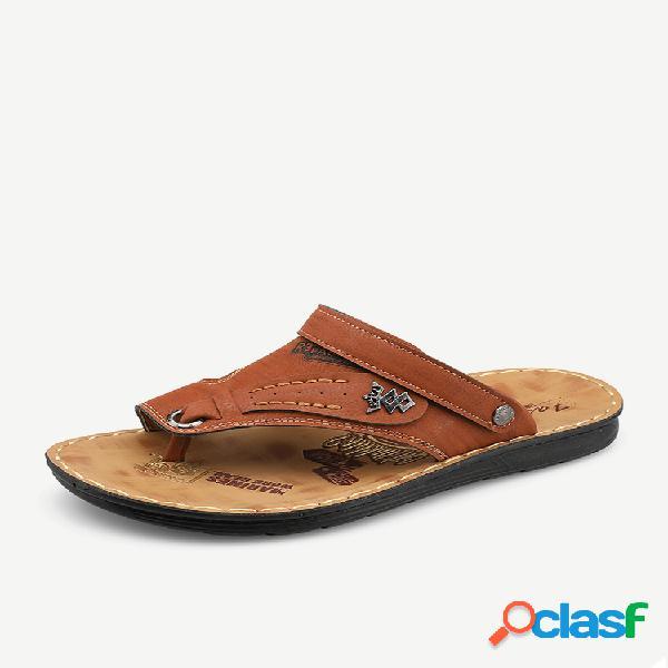 Hombre piel sintética verano cómodo antideslizante casual playa sandalias