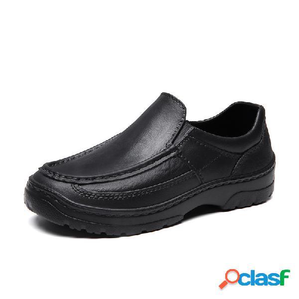 Hombres impermeable eva peso ligero anti slip casual chef shoes