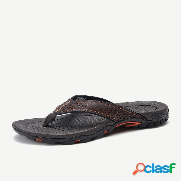 Hombre comfy sintético antideslizante casual playa chanclas zapatillas