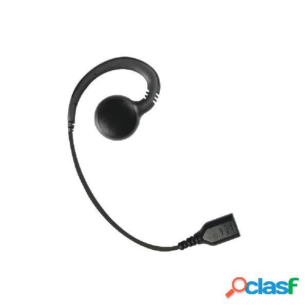 Pryme auricular giratorio, negro, requiere micrófono de solapa de 1 o 2 hilos de la serie snap