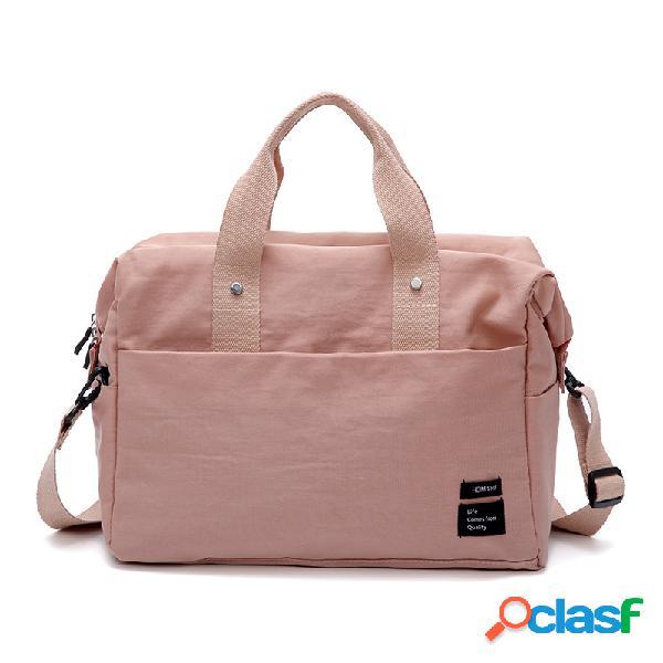 Mujer casual nylon almacenamiento de viaje bolsa ropa bolsa equipaje bolsa