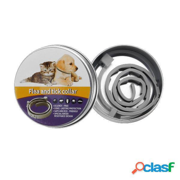 Collar de pulgas naturales para perros: protección contra pulgas y garrapatas por hasta 6 meses anti protección contra insectos contra mosquitos