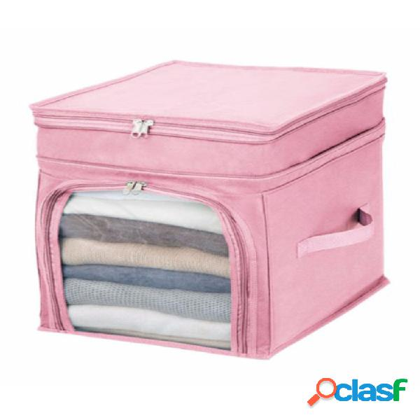 Almacenamiento plegable bolsa ropa manta edredón armario suéter organizador caja bolsa
