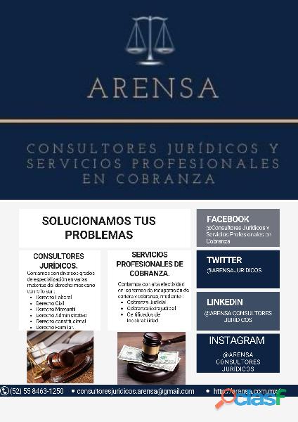 Arensa Consultores Jurídicos y Servicios Profesionales en Cobranza