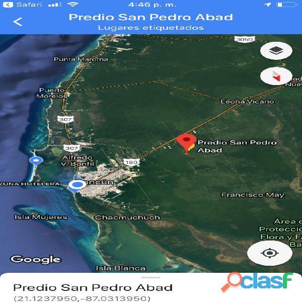 enorme terreno en venta en carretera cancun merida, desarollo ecologico