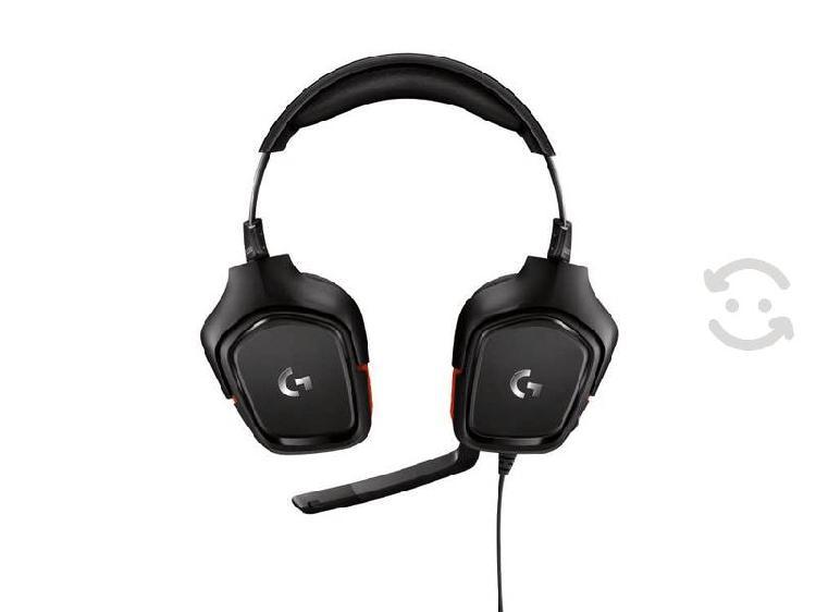 Diadema headset logitech g332 pc/juegos negro rojo