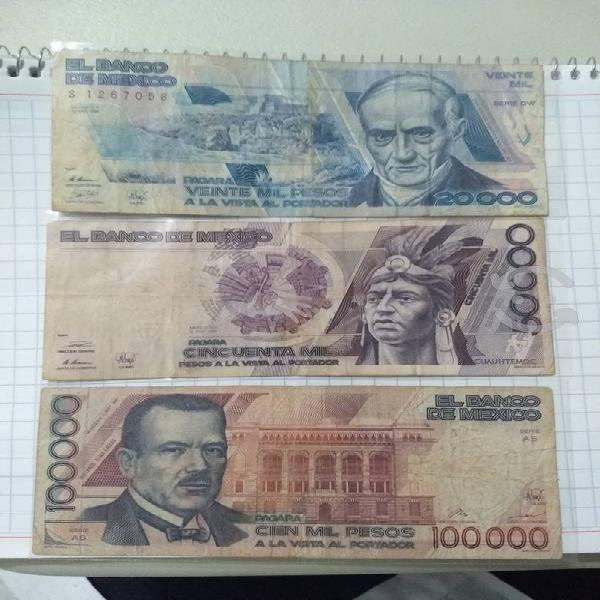 Billetes noventas