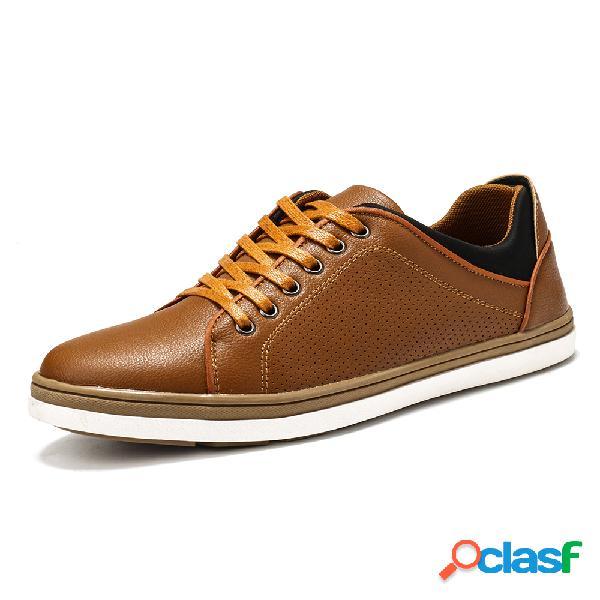 Menico hombres microfibra transpirable soft zapatos casuales de negocios para caminar