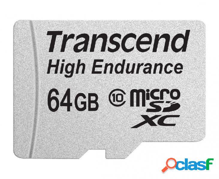 Memoria flash transcend high endurance, 64gb microsdxc mlc clase 10