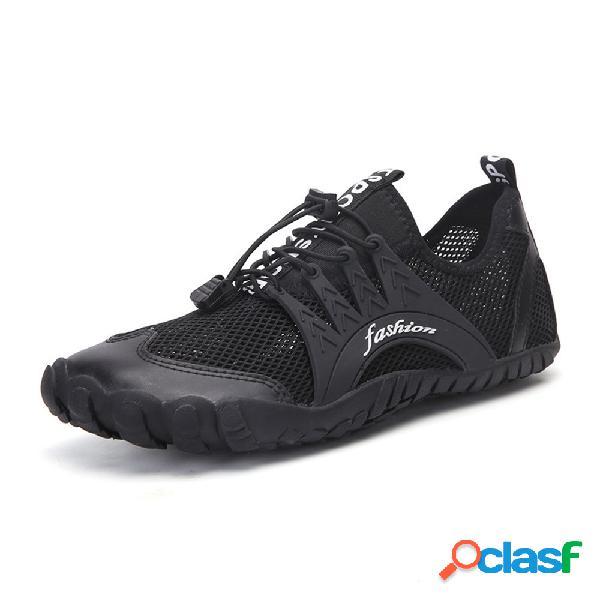 Hombres malla de secado rápido y transpirable soft playa zapatos de agua