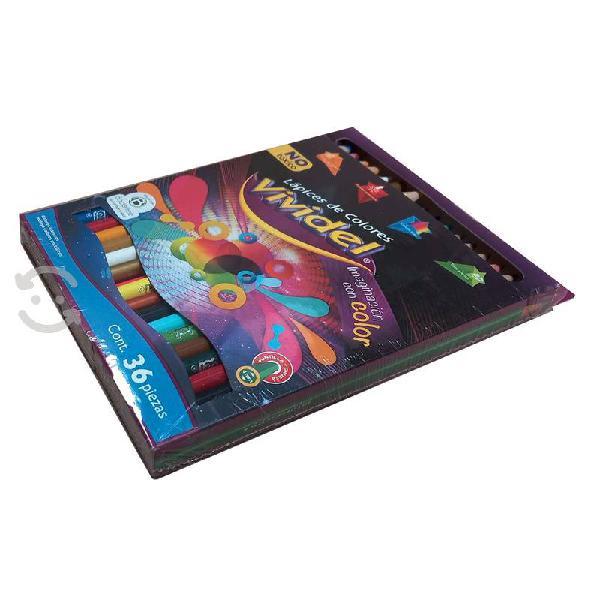 Colores vividel con 36 piezas vinci paq con 4 cjas