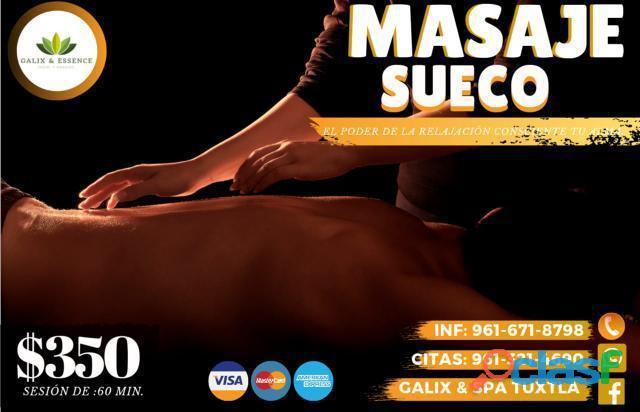 MASAJE SUECO 1 HORA