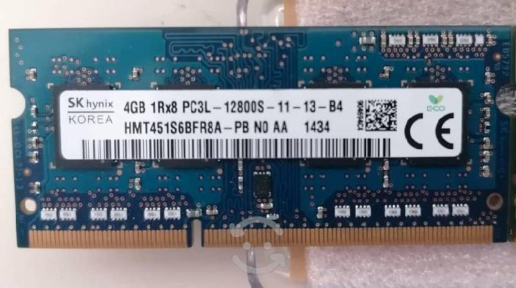 Se venden 3 memorias ram de 4gb c/u para laptop