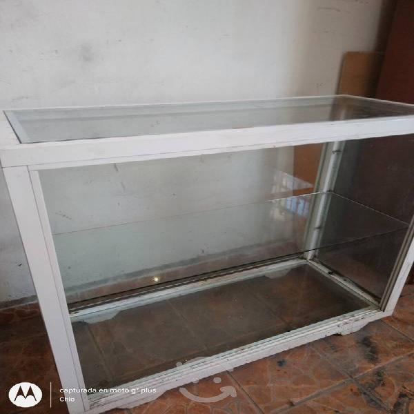 Vitrina mostrador de aluminio