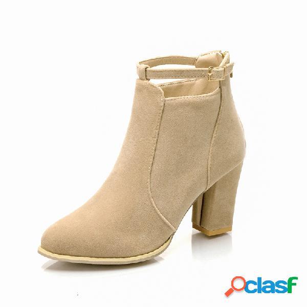 Mujer tobillo grueso de tacón alto de gran tamaño botas