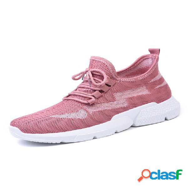 Mujer soft zapatillas de running de malla transpirable con cordones
